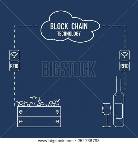 Blockchain. Rfid Technology. Winemaking From The Collection Of Grapes To Wine Tasting.
