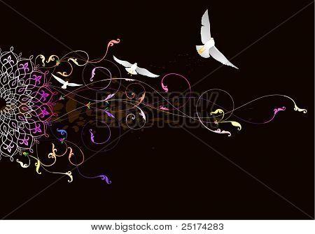 colorful modern flower design