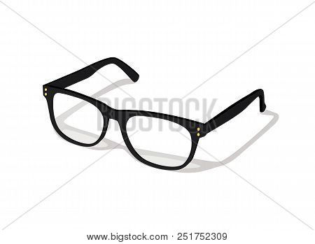 97ff99f182d5 Modern glasses icon isolated on white background vector illustration of  elegance spectacles in black frame