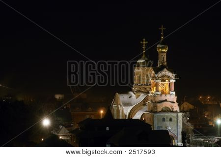 Night View On The Church