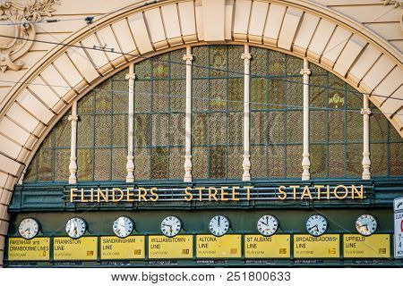Flinders Street Station In Melbourne, Victoria, Australia