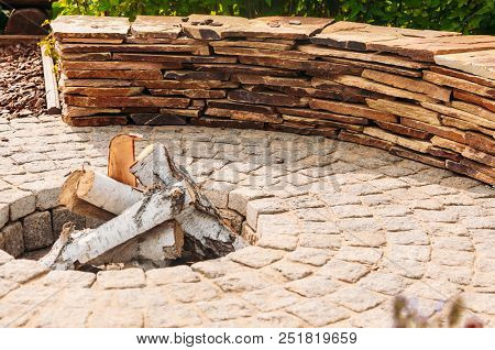 Picnic Fireplace Outdoor Zone For Relax Summer