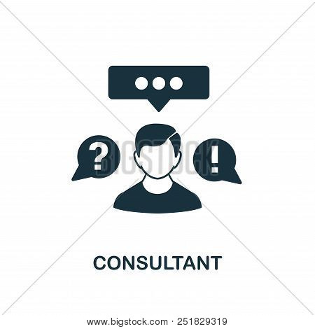 Consultant Creative Icon. Simple Element Illustration. Consultant Concept Symbol Design From Contact