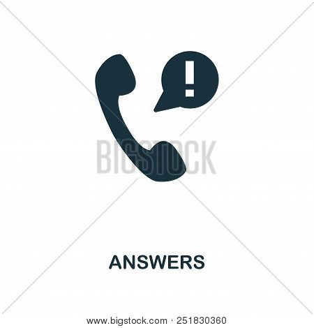 Answers Creative Icon. Simple Element Illustration. Answers Concept Symbol Design From Contact Us Co