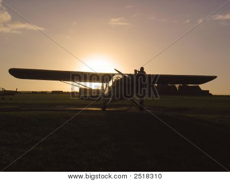 Refueling At Sunset