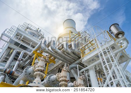 Pressure Safety Valve, Relief Valve At Suction And Discharge Of Gas Turbine Compressor To Protect Pi