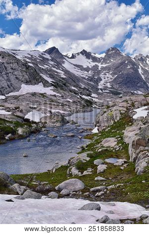 Upper And Lower Jean Lake In The Titcomb Basin Along The Wind River Range, Rocky Mountains, Wyoming,