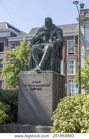 The Hague, Netherlands - July 03, 2018: Monument To The Dutch Statesman And Diplomat Johan Van Olden