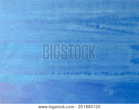 Wood Blue Background Texture, Light Weathered Rustic Oak. Faded Wooden Varnished Paint Showing Woodg