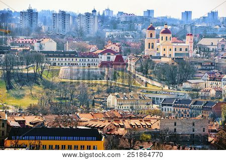 View Of Vilnius From The Hill Of Three Crosses Point Of View To The  Vilnius City.