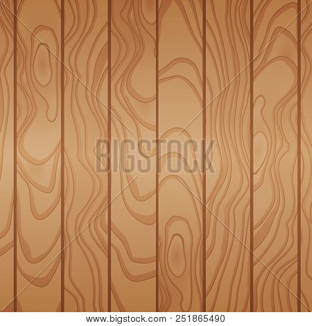 Cartoon Wooden Table Background. Planks. Vector Illustration. Texture Of A Tree. Light Brown Woody S