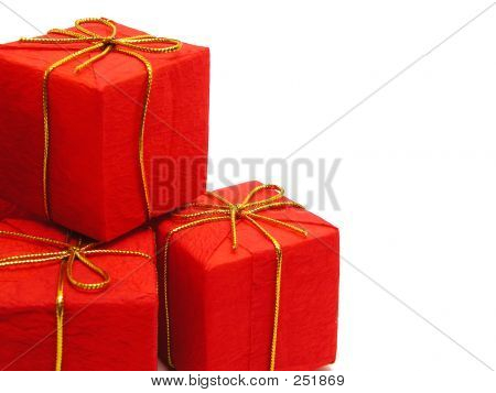 Red Christmas Presents