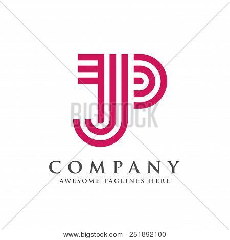 Creative And Simple Letter Jp, Letter Pj Logo Vector Concept