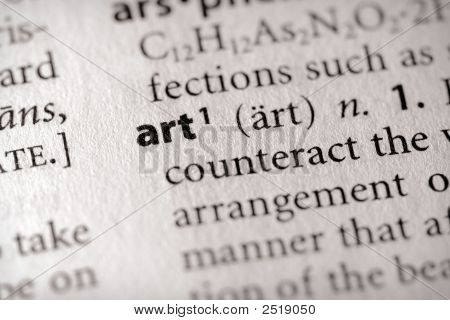 Dictionary Series - Miscellaneous: Art