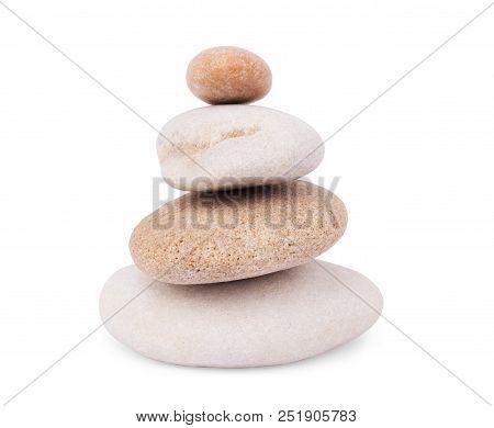 Stones Isolated On White Background.big Granite Rock Stone,.rock Stone Isolated On White Background