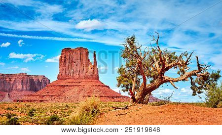Western Landscape In The Monument Valley, Arizona, Usa.