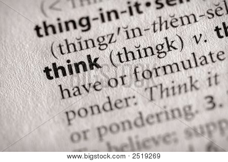 Dictionary Series - Philosophy: Think