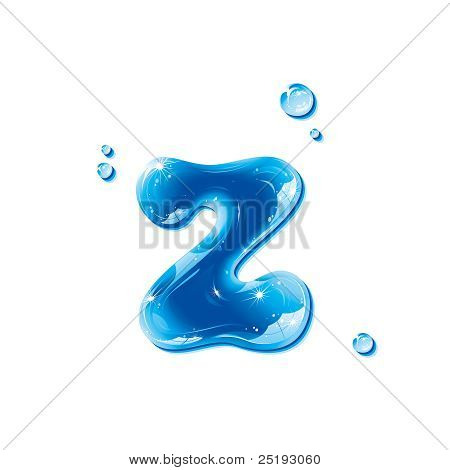 ABC series - Water Liquid Letter - Small Letter z