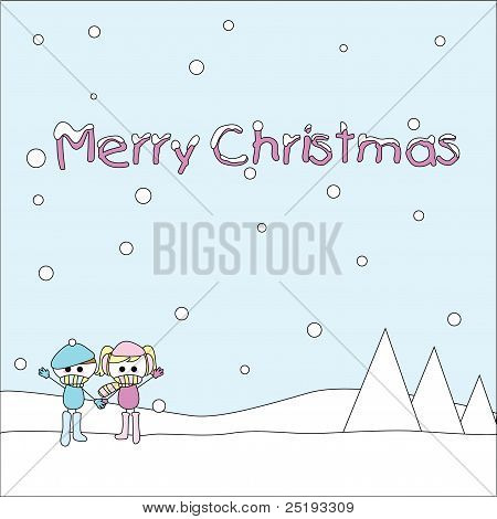 cute christmas children collection