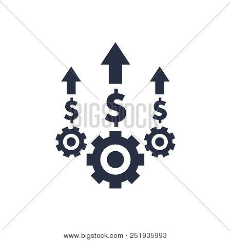 Costs Optimization And Production Efficiency, Cost Management Icon. Business Efficiency And Quality