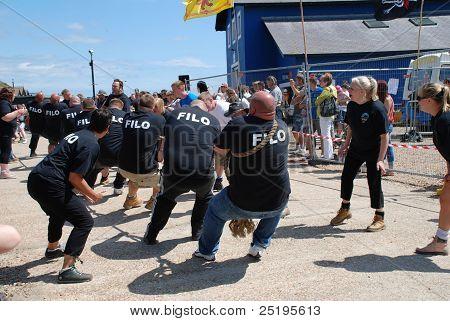 Tug of War match, Hastings