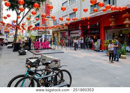 MEXICO CITY,MEXICO - JULY 12,2018 : Chinatown in Mexico City