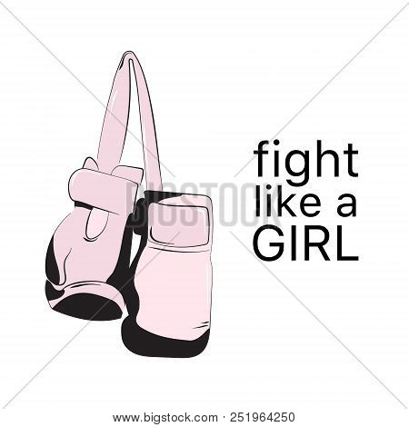 Fight Like Girl Vector Photo Free Trial Bigstock