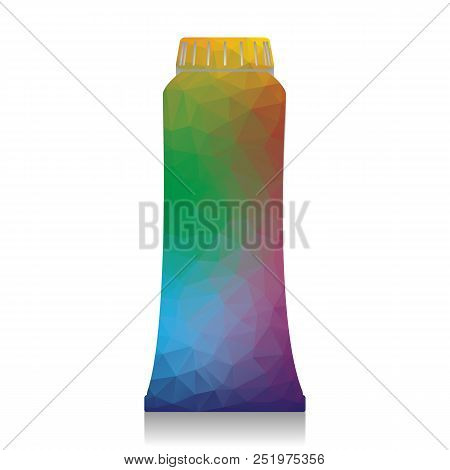 Toothpaste Tube Sign Illustration. Vector. Colorful Icon With Br