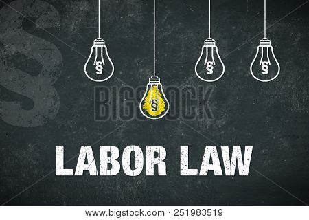 "Banner Showing The Text ""labor Law"