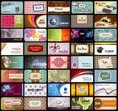 variety of 40 detailed horizontal business cards on different topics poster