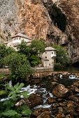 Dervish house in Blagaj on Buna, Bosnia and Hezegovina poster