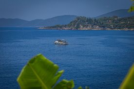 A Fishing Boat At Sea In Greece
