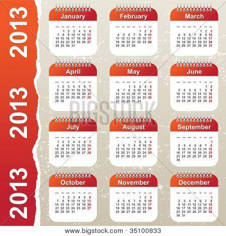 calendar 2013 poster