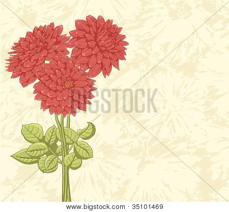 Floral background with hand drawn flowers. Lovely colors.