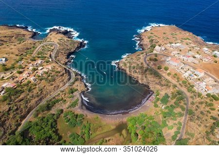 Coconut And Sugar Canne Plantation Near Calheta Sao Miguel In Santiago Island  In Cape Verde - Cabo