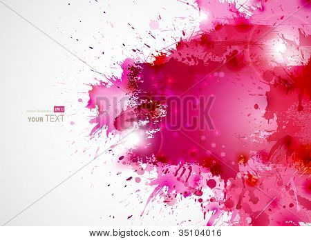 Abstract artistic Background forming  by blots poster