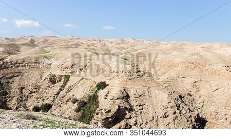 Stone Hills Of The Judean Desert In The Area Of The Monastery Of St. George Hosevit - Mar Jaris - St