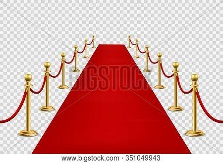 Red Carpet. Grand Opening Ceremonial, Vip Event Or State Visit. Cinema Premiere, Celebrity Entrance