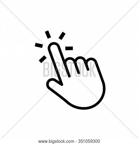 Hand Click Button. Mouse Cursor. Web Pointer Press Or Touch Website Element. Vector Computer Navigat