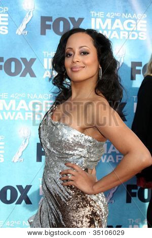 LOS ANGELES - MARCH 4: Essence Atkins arriving at the 42nd NAACP Image Awards at Shrine Auditorium on March 4, 2011 in Los Angeles, CA