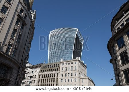 20 Fenchurch Street, A Commercial Skyscraper In The Financial District City Of London.