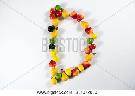Eat Vitamins Letter Clsoeup Fruits Vegetables Represent Symbol Fitness Source Need Medical Illness