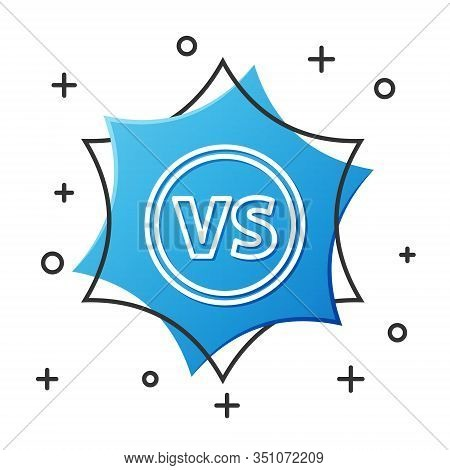 White Line Vs Versus Battle Icon Isolated On White Background. Competition Vs Match Game, Martial Ba