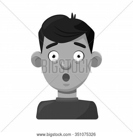 Isolated Object Of Guy And Fright Sign. Collection Of Guy And Surprise Stock Vector Illustration.