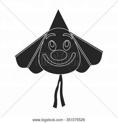 Kite Clown Vector Icon.black Vector Icon Isolated On White Background Kite Clown .