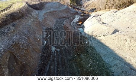 Quarry And Construction Machinery In Savoy, France