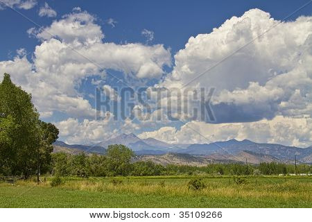 Thunderstorm Clouds Boiling Over The Colorado Rocky Mountains