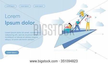 Idea Search Flat Landing Page Vector Template. Teamwork, Cooperation, Business Development Ways Scan