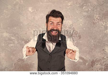 Hava Nagila. Lets Rejoice And Be Happy. Happy Jewish Israeli Man. Bearded Man Dance Jewish Folk Melo