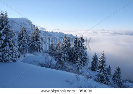 blau Schnee-Szene